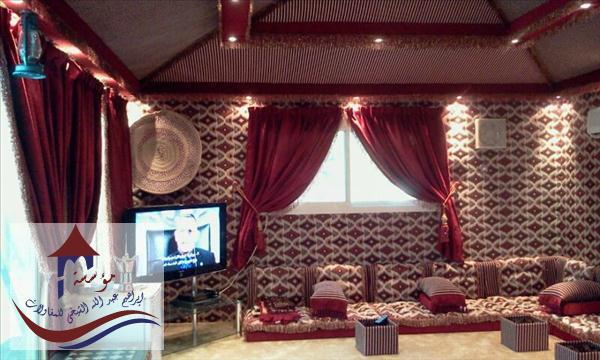 بيوت شعر ملكية بمجلس عربي