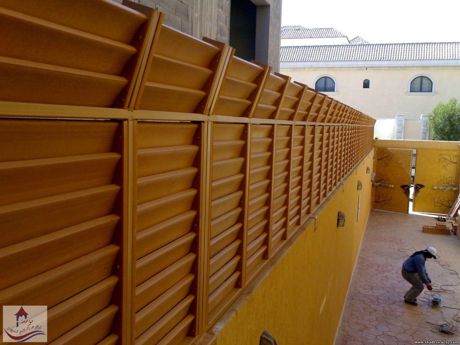 سواتر خشبية مجدول