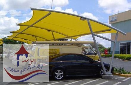 مظلات كابولي للسيارات
