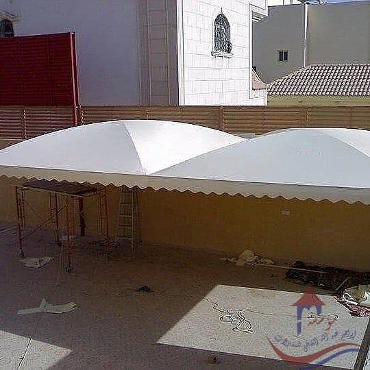 مظلات سيارات مقص