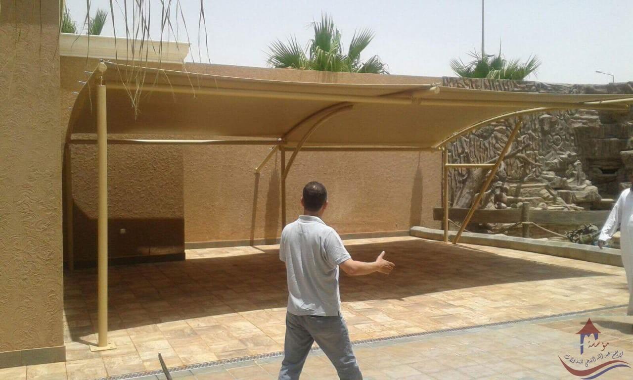 مظلات بعد التركيب كابولي